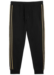 Palm Angels Black Gold Trimmed Jogging Trousers