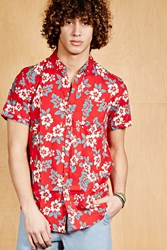 Forever 21 Soul Star Hawaiian Shirt Red