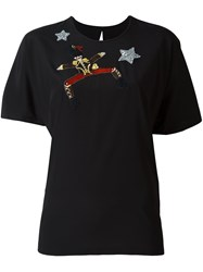 Dolce And Gabbana Embroidered Toy Soldier T Shirt Black