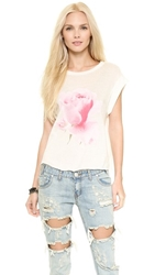 Wildfox Couture Rainy Rose Tee Vintage Lace