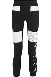 P.E Nation Roll Out Two Tone Stretch Jersey Leggings Black