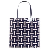 Ted Baker Colour By Numbers Looleey Pencil Print Shopper Bag Navy