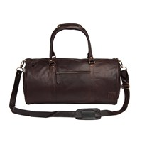 Mahi Leather Weekend Classic Duffle Holdall Overnight Gym Bag In Vintage Mahogany Brown
