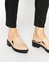 Asos Marleen Cleated Sole Mules Nude