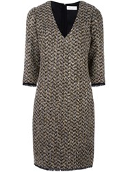 Sonia Rykiel Boucle Fitted Dress Nude Neutrals
