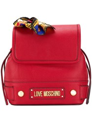Love Moschino Scarf Detail Backpack Red