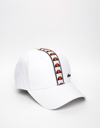 Ellesse Taped Logo Baseball Cap White