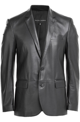 Ralph Lauren Black Label Leather Blazer