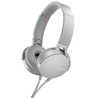 Sony Mdr Xb550ap Extra Bass On Ear Headphones With Mic Remote White