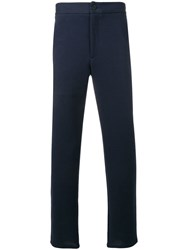 Harris Wharf London Mid Rise Tapered Trousers Blue