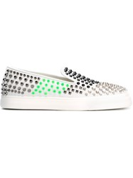 Giuseppe Zanotti Design Studded Slip On Sneakers White