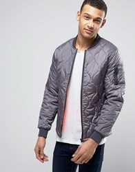 Blend Of America Quilted Bomber Jacket 75110 Drizzle Grey