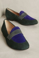 Anthropologie Miss Albright Colorblock Loafers Botanical Motif