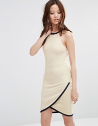 Wal G Dress With Wrap Skirt Dark Cream