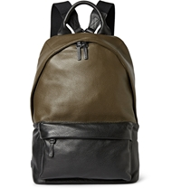 Mcq By Alexander Mcqueen Two Tone Leather Backpack Green