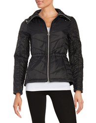 Guess Packable Quilted Coat Black