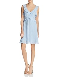 Aqua Clip Dot Ruffled Dress 100 Exclusive Sky Blue