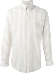 Yves Saint Laurent Vintage Striped Shirt Nude And Neutrals