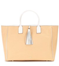 Melissa Odabash Barbados Cotton And Leather Tote Beige