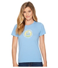 Life Is Good The Great Outdoors Crusher Tee Powder Blue T Shirt