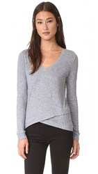 Lanston Asymmetrical Pullover Heather