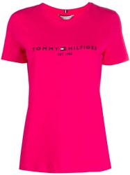 Tommy Hilfiger Cotton Logo Embroidered T Shirt 60