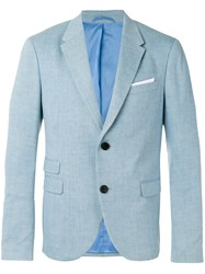 Neil Barrett Chest Pocket Blazer Blue