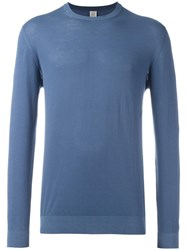 Eleventy Crew Neck Jumper Blue