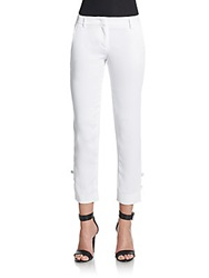 Just Cavalli Tie Cuff Cropped Pants White