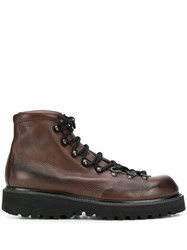 Premiata Lace Up Ankle Boots Brown