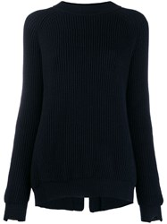 Stefano Mortari Ribbed Sweater Blue