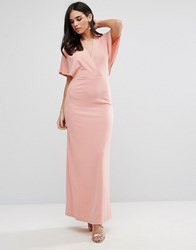 Oh My Love Maxi Dress With Kimono Sleeves Rose Pink