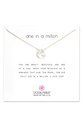 Dogeared Women's Reminder One In A Million Keshi Pearl Pendant Necklace