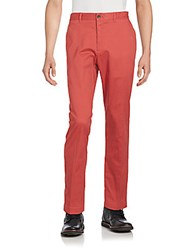 Saks Fifth Avenue Slim Fit Pants Dark Red