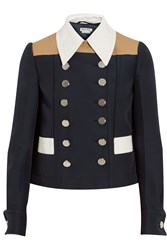 Miu Miu Color Block Twill Jacket Blue