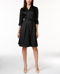 Charter Club Classic Belted Shirt Dress Only At Macy's