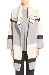 Women's Vince Colorblock Car Coat Sweater