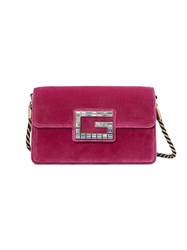 Gucci Shoulder Bag With Square G Pink And Purple