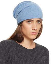 Bloomingdale's C By Bloomingdales Cashmere Angelina Slouch Hat Sky