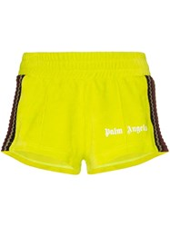 Palm Angels Chenille Track Shorts Green