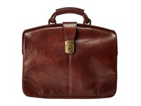 Bosca Dolce Collection Soft Partners Brief Dark Brown Briefcase Bags