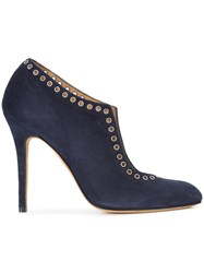 Alexa Wagner Lori Pumps Leather Suede Blue