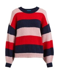 M.I.H Jeans Jackson Striped Mohair Blend Sweater Multi