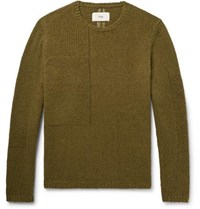 Folk Interference Wool Blend Sweater Army Green