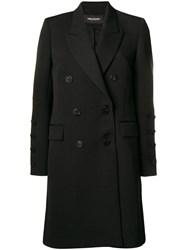 Neil Barrett Oversized Double Breasted Coat Black