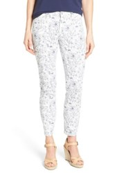 Nydj Clarissa Print Stretch Twill Ankle Pant White