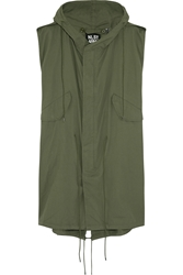 Nlst Oversized Sleeveless Cotton Twill Parka