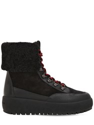 Coach 40Mm Tyler Suede And Leather Hiking Boots Black