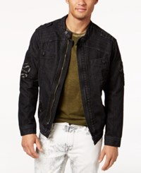Ring Of Fire Men's Black Denim Jacket Only At May's