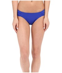 Jets By Jessika Allen Illuminate Gathered Side Hipster Bikini Bottom Oceanic Women's Swimwear Blue